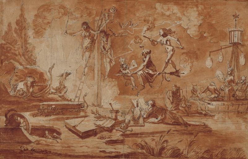 Claude Gillot - Scene of Sorcery