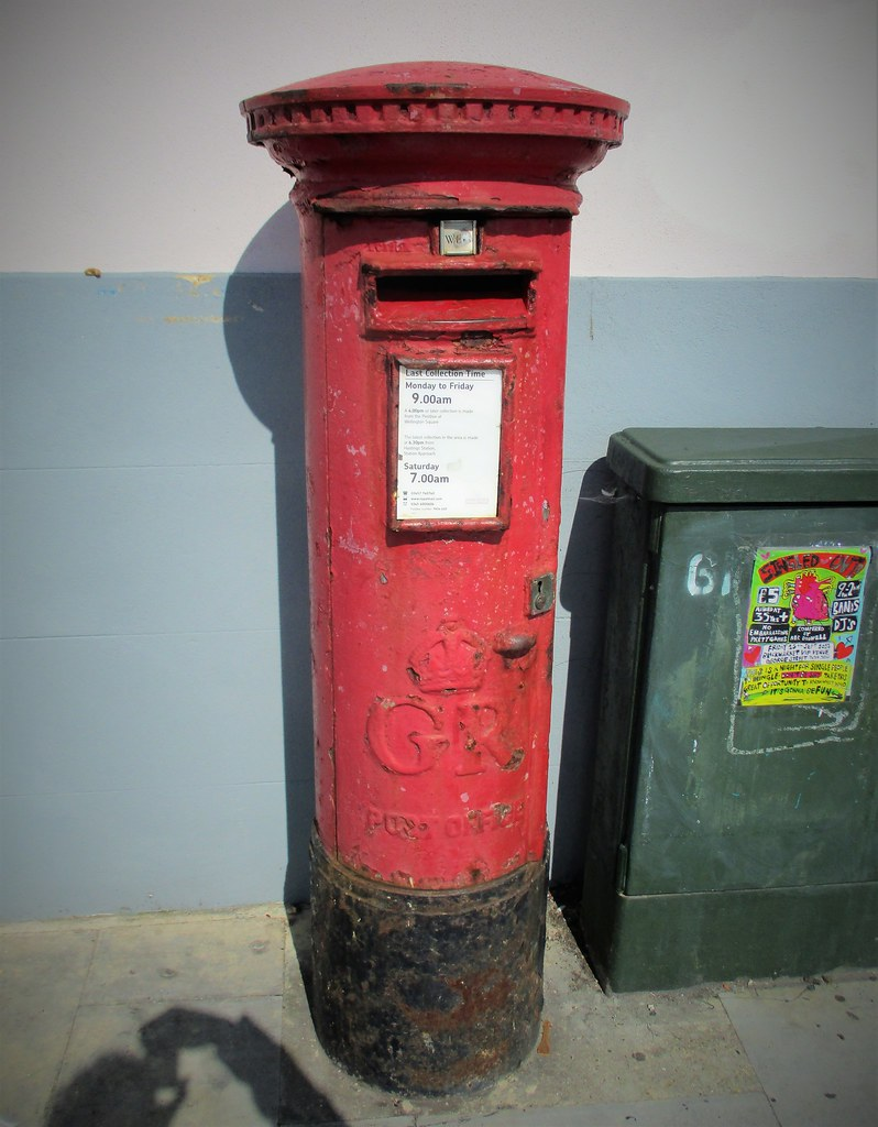 Corroded Post Box, Hastings UK