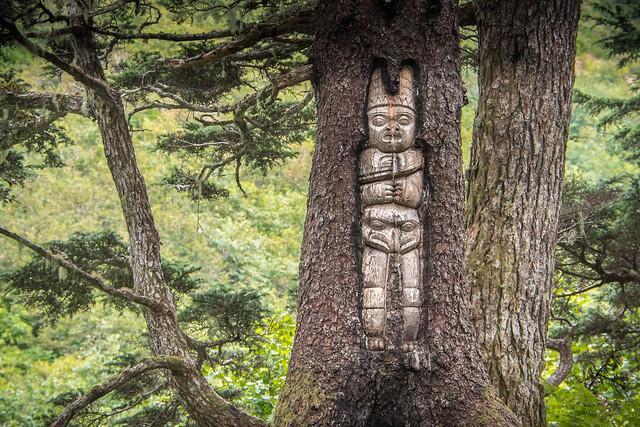 Tlinget Tree Carving - Mythological Caretaker