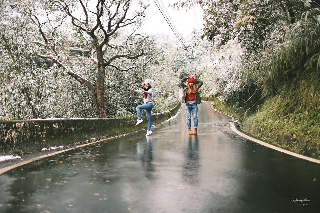 台北的雪後散步