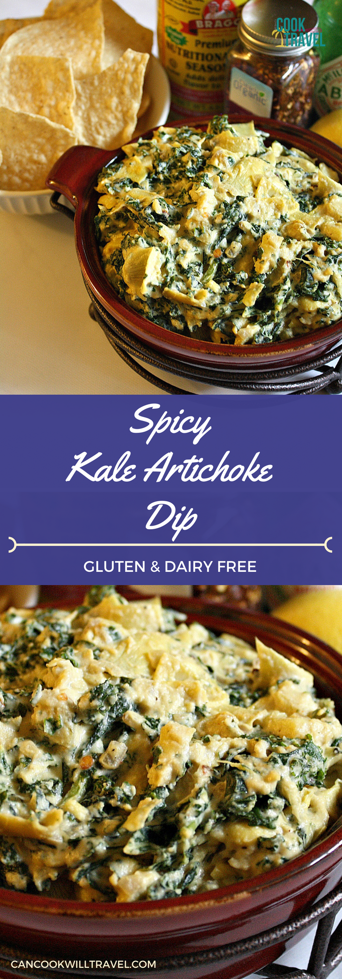 Spicy Kale Artichoke Dip_Collage1
