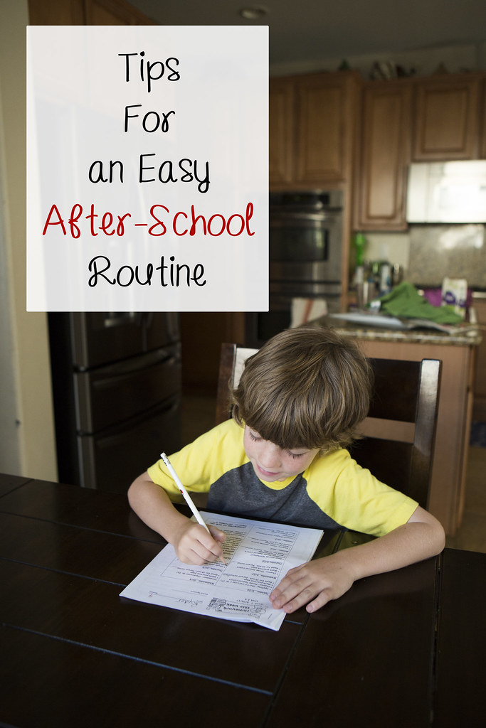 tips for an easy after school routine