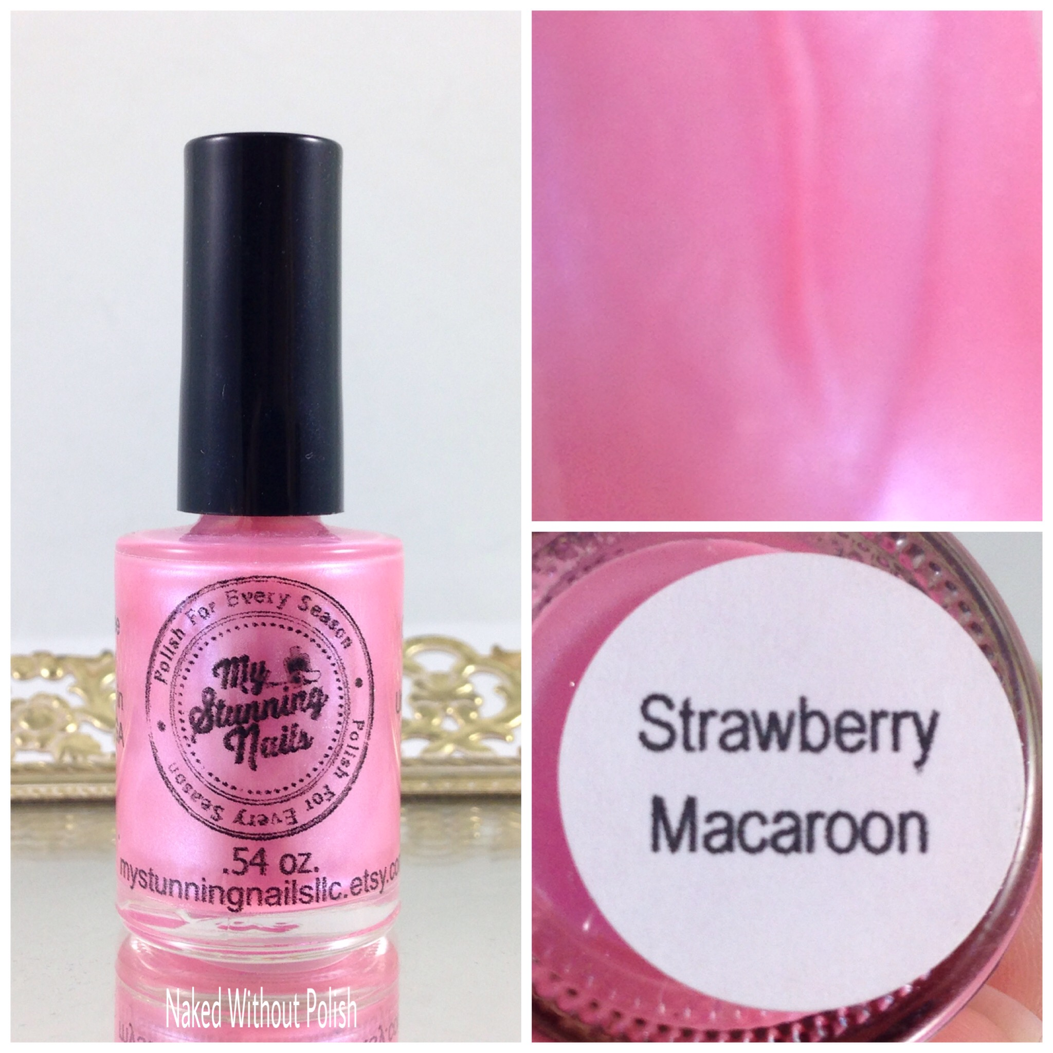 My-Stunning-Nails-Strawberry-Macaroon-1