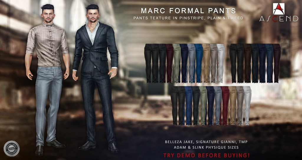 Ascend - Marc Formal Pants - SecondLifeHub.com