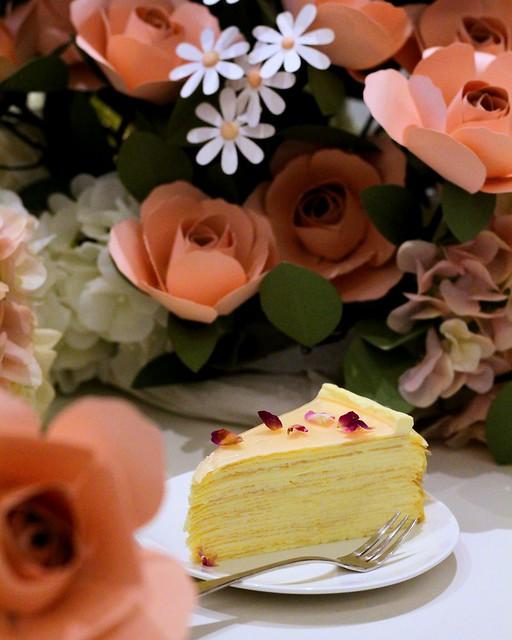 Rose Mille Crêpes Cake