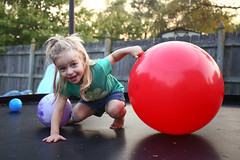Zoey Playing in Backyard 2017