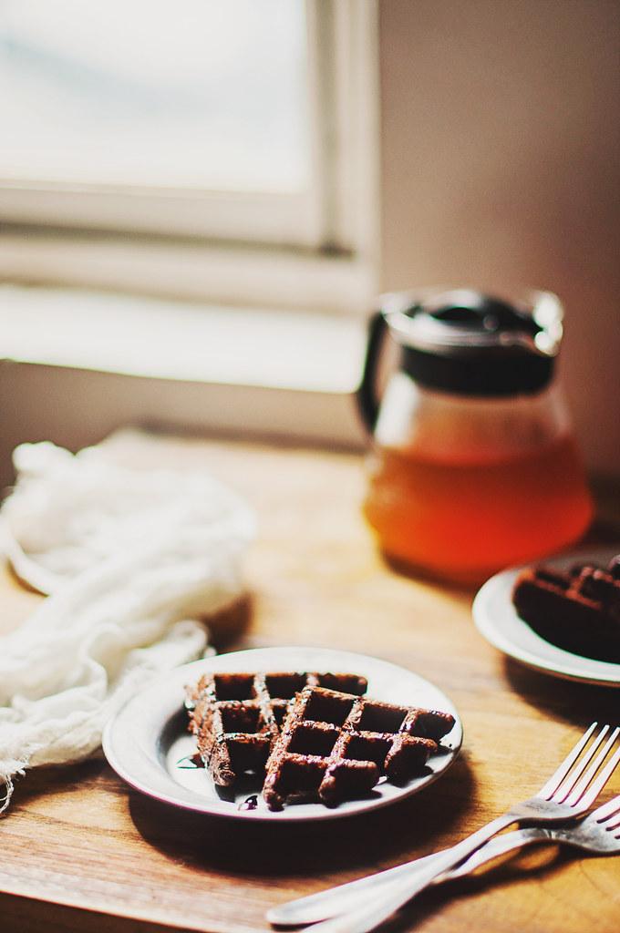 Day 201/365 - Chocolate cake waffle