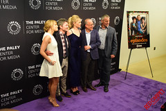 "Matt LeBlanc, David Crane and Jeffrey Klarik, Mircea Monroe & Kathleen Rose Perkins ""Episodes"" PaleyLive LA Event #Episodes #PaleyCenter"