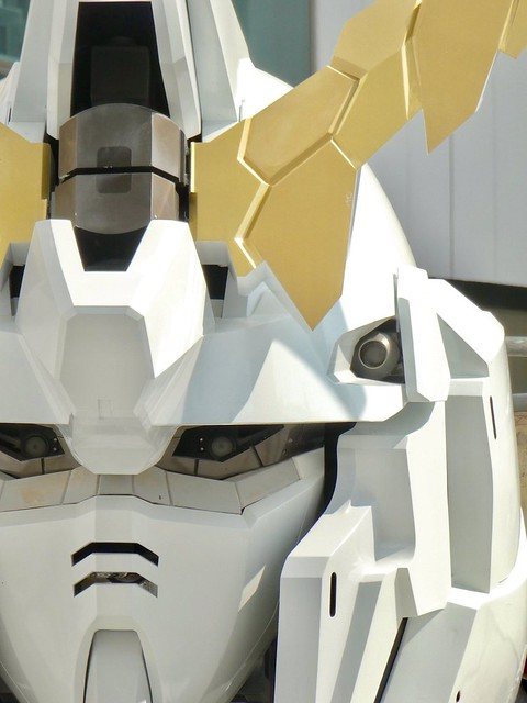 Gundam Unicorn Real Life Size Face