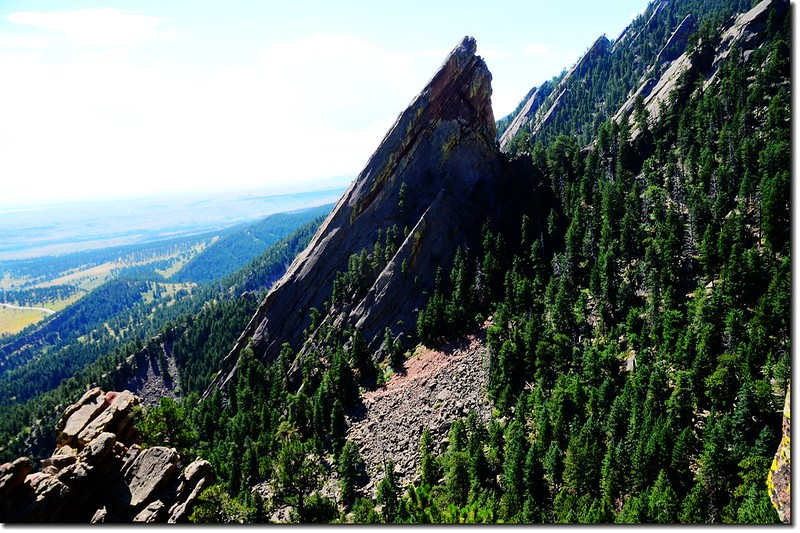 The Third Flatiron as seen from the top of the 1st & 2nd Flatiron Trail