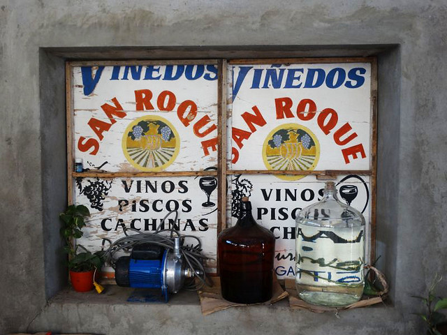 Pequeño productor de pisco y vino, en Cañete