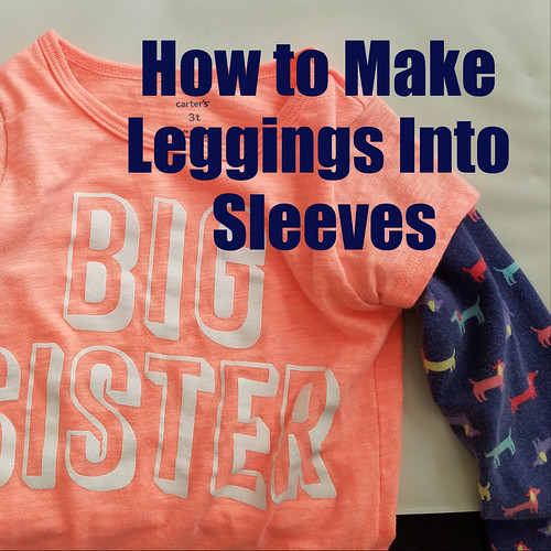 How to turn leggings into sleeves tutorial diy