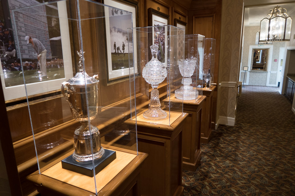 Pebble Beach trophies