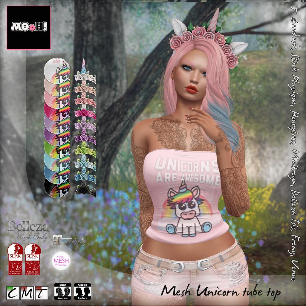 Unicorn tube top - SecondLifeHub.com