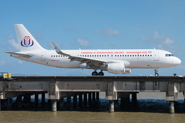 Cambodia JC International Airlines A320 XU-995