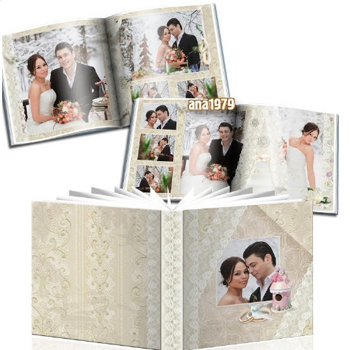 Wedding photobook for Photoshop – in love I confess