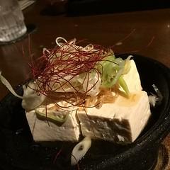じゃこねぎ冷奴。島豆腐。最高なやつ。 #沖縄2017 #dinner