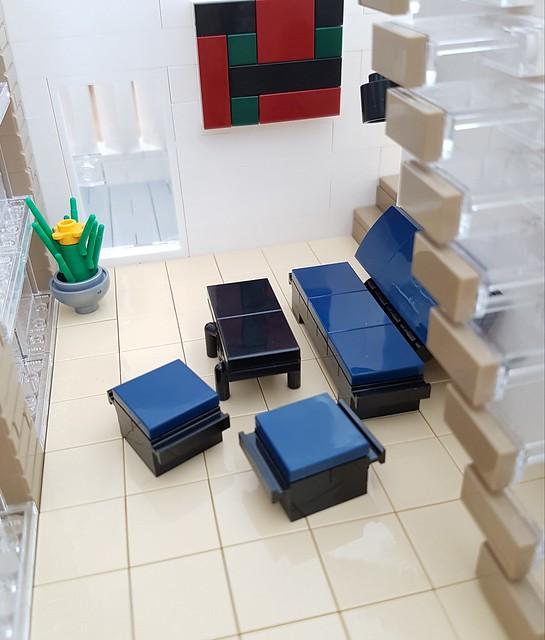 Whitebrick Sand House MOC living room