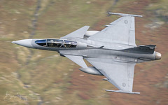 SAF Saab JAS-39D Gripen '39829' low level over Thirlmere