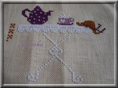 Zaza Picque ,  A l'Ombre du Jasmin, cross stitch (2)