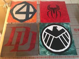 Superheroes: Fantastic Four, Spider-Man, Dare Devil, Shield