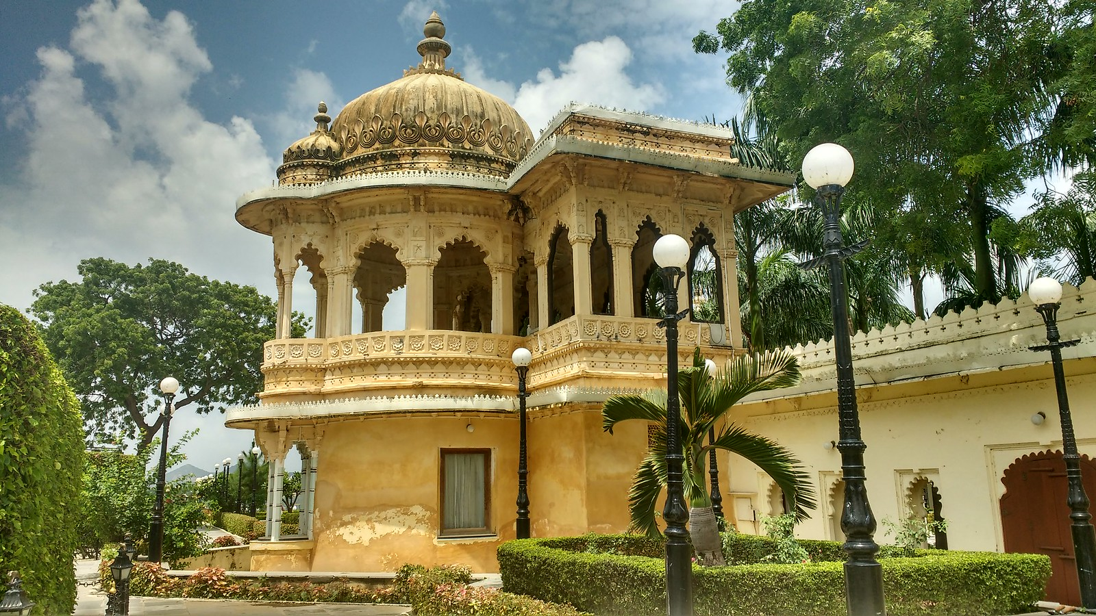 A portion of Jag Niwas Palace
