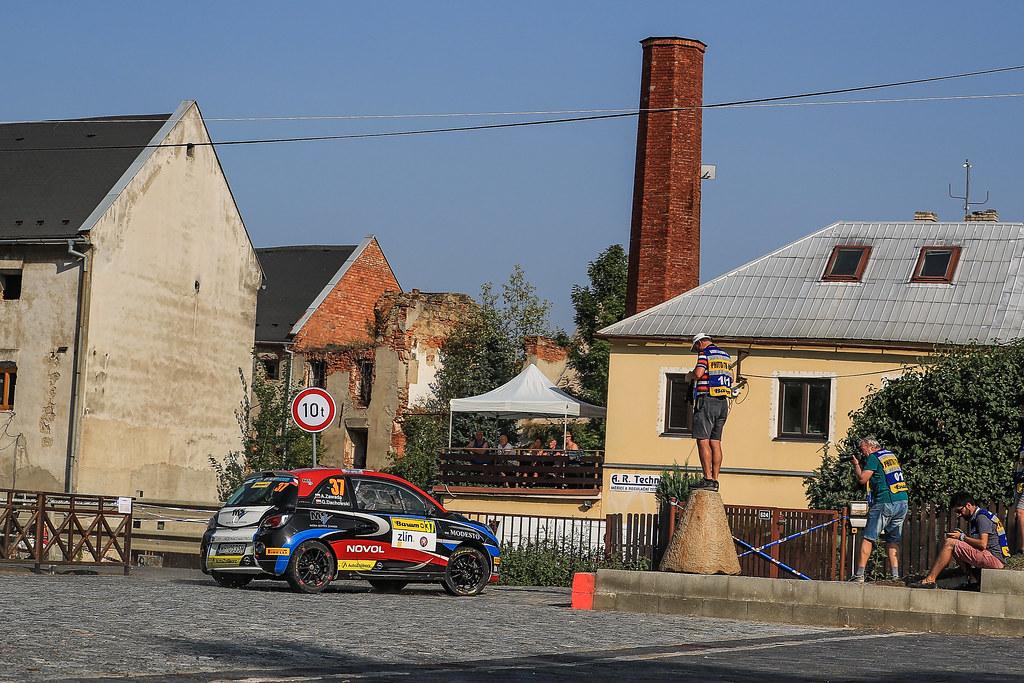 37 ZAWADA Aleksander (POL) DACHOWSKI Grzegorz (POL)  Opel Adam R2 action during the 2017 European Rally Championship ERC Barum rally,  from August 25 to 27, at Zlin, Czech Republic - Photo Jorge Cunha / DPPI
