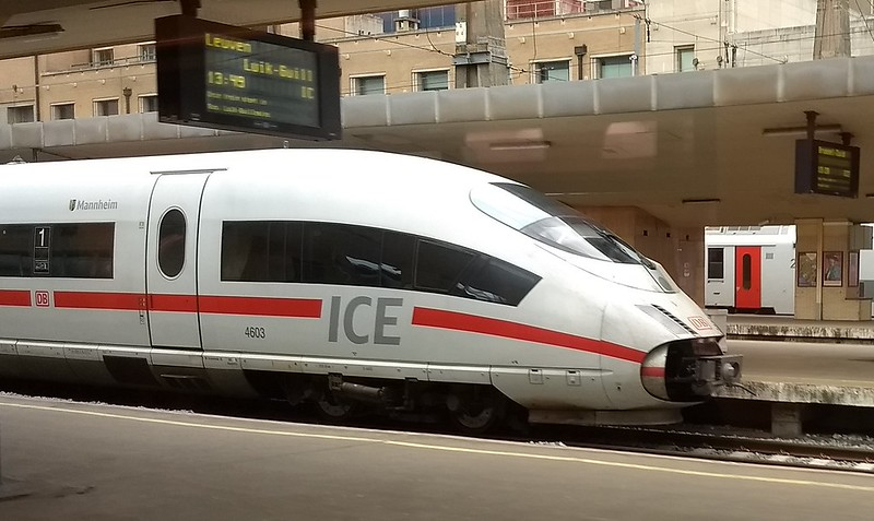 German Railways ICE train in Brussels