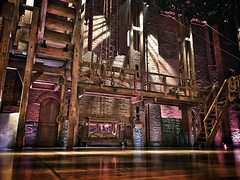 The stage of Hamilton at Richard Rogers Theatre