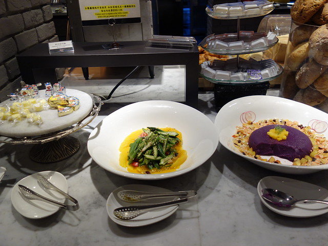 各種乳酪、秋葵與紫薯@高雄喜達絲飯店