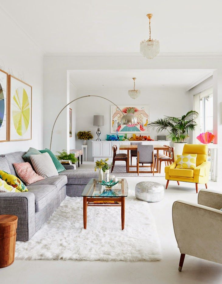 Easy Ways to Make Your Rental Feel Like Home | Bright Colorful Living Room