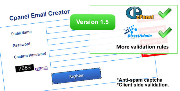 Cpanel Email Creator v1.61