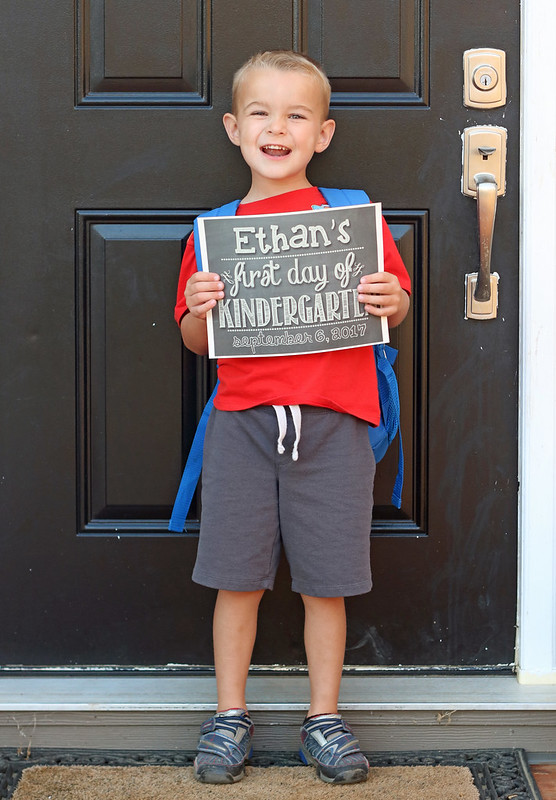 Ethan's First Day of Kindergarten