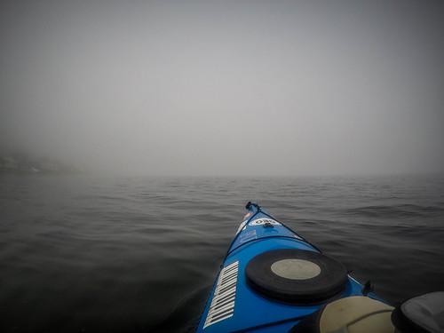 Samish Island Paddling in Fog-3