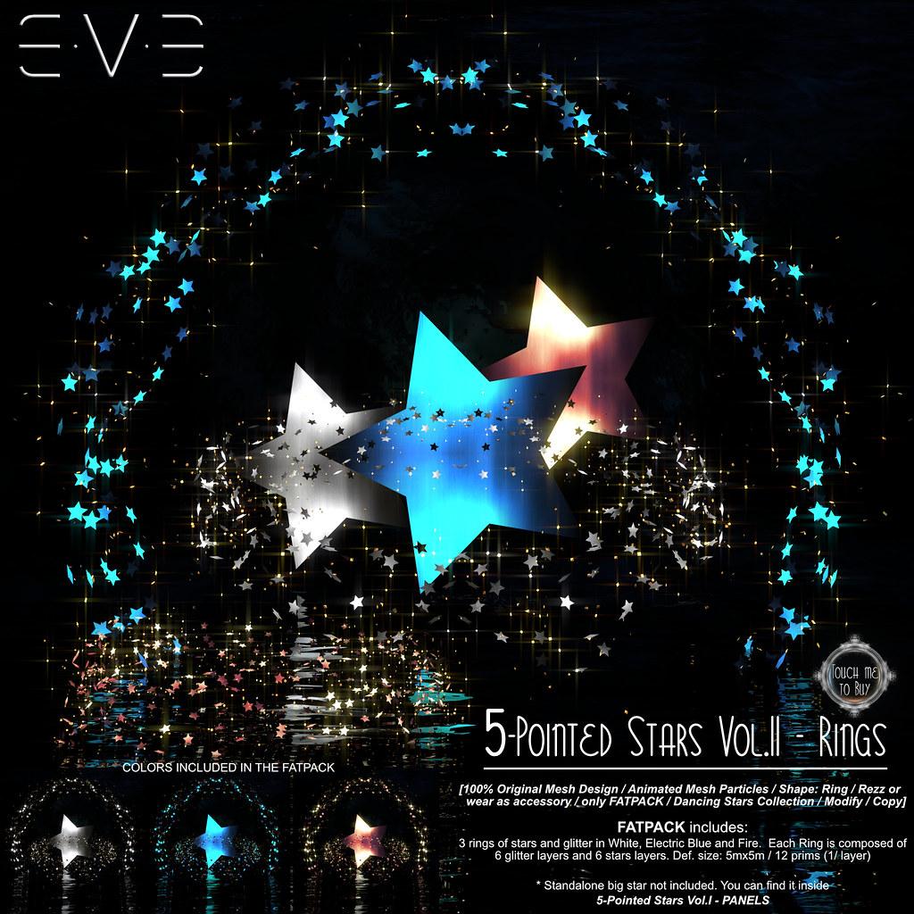 E.V.E 5-Pointed Stars Vol.2 RINGS [Info] - SecondLifeHub.com
