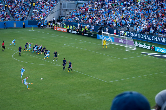 Kevin de Bruyne free kick (Otamendi goal)