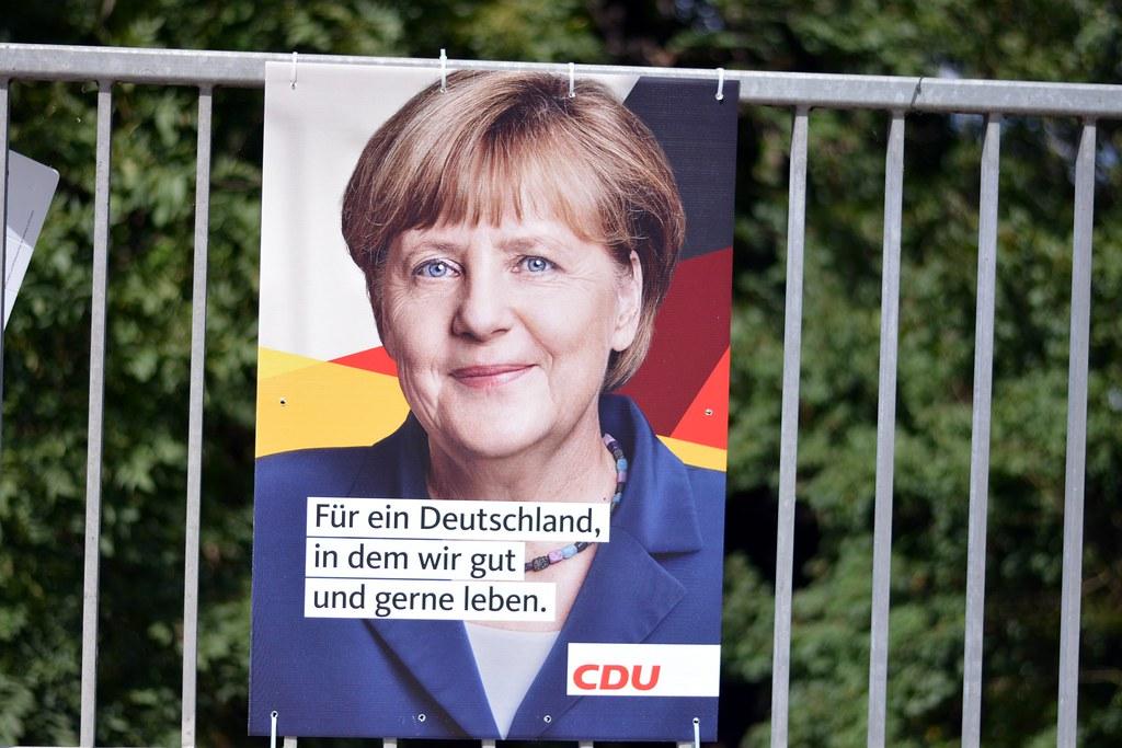 Angela Merkel für ein Deutschland Wahlplakat