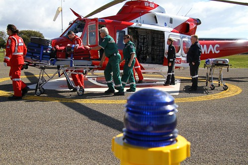 Crew of SAAS MedSTAR and Paramedics from Kingscote Hospital (P14)