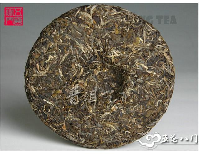 Free Shipping 2012 ChenSheng Beeng Cake Bing RenCha Human Tea 300g YunNan Organic Pu'er Raw Tea Sheng Cha Weight Loss Slim Beauty
