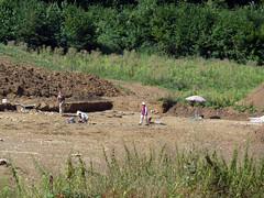 Bourogne, rue Bernardot, fouilles archéologiques