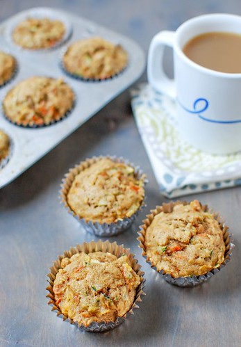 Healthy Breakfast Ideas: Zucchini Carrot Apple Muffins | Healthy Muffin Recipe