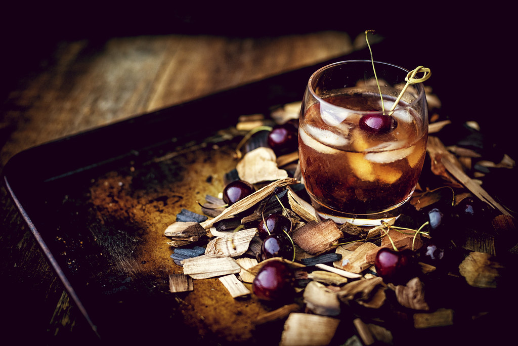 Smoked Cherry Old Fashioned Cocktail Photo credit kita Roberts (3 of 7)