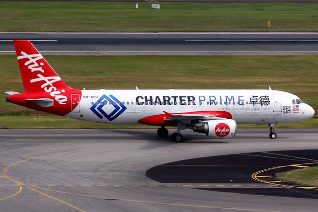 AirAsia   Airbus A320-200   9M-AHJ   Charter Prime livery   Singapore Changi