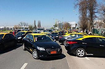 SCL Bloqueo taxis septiembre 2017 (Nuevo Pudahuel)
