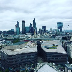 View across City of London