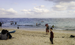 Kids running at Pandawa Beach