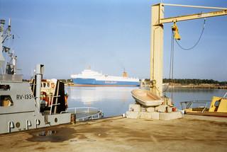 Junalautta ja RV 133 Hangossa 1985