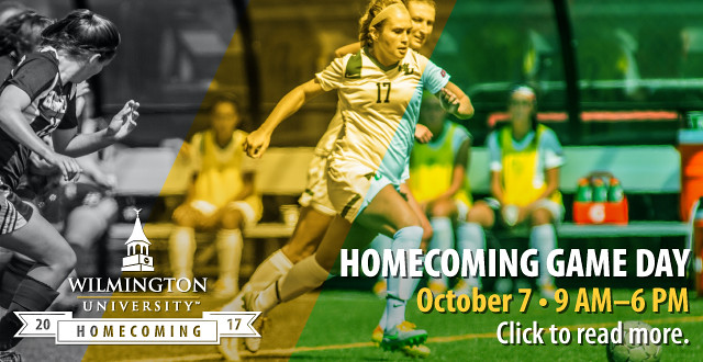 WilmU invites students, alumni, faculty, staff, and friends to Homecoming Week, October 2 to 7.