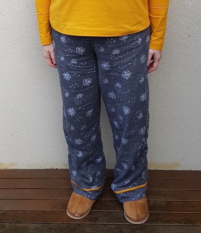 Winter pyjamas - Butterick 6296 pants with Deer & Doe Plantain tee