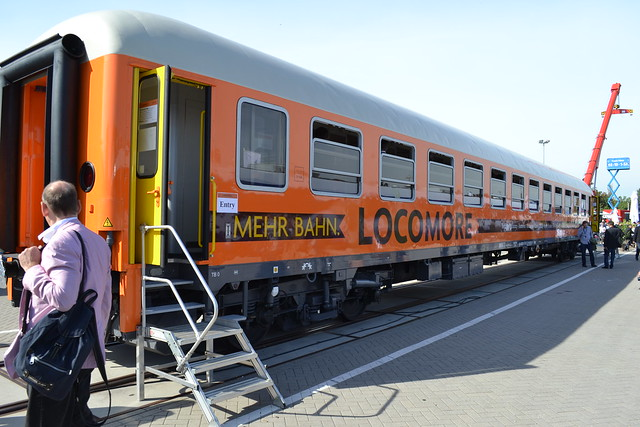 Locomore coach on display at InnoTrans 2016